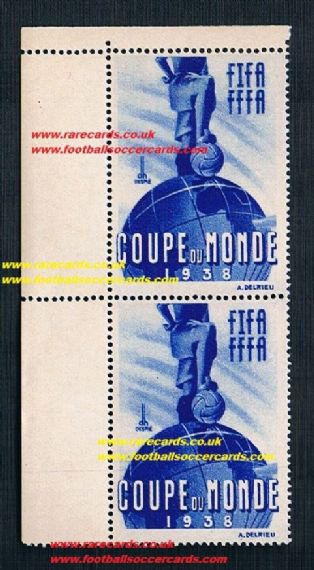 1938 umm pair margins World Cup stamps